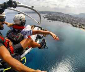 Πτήση με paratrike στο Ρέθυμνο, Κρήτη