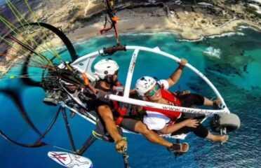Tandem paratrike πτήση στα Φαλάσαρνα, Κρήτη