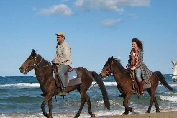 Βόλτα με άλογα στη περιοχή της Σταλίδας – Κρήτη