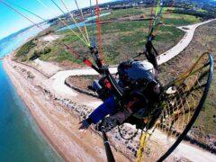 Πτήση με Paramotor / Paratrike στο Λουτράκι